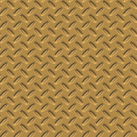 Gold yellow diamond shiny metal plate seamless pattern, or texture.