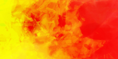 Yellow orange red watercolor gradient background. Colorful digital illustration simulating true watercolor with paper texture.