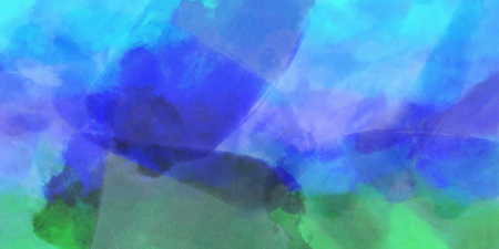 Blue Purple Green, watercolor gradient background. Colorful digital illustration simulating true watercolor with paper texture. Stock Photo