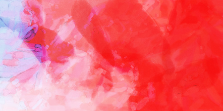 Red white watercolor gradient background. Colorful digital illustration simulating true watercolor with paper texture.