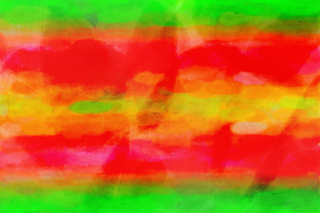 Orange red green watercolor gradient background. Colorful digital illustration simulating true watercolor with paper texture.