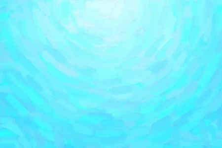 Light blue white circular watercolor gradient background. Colorful digital illustration simulating true watercolor with paper texture.