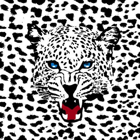 leopard vector pattern Ilustração