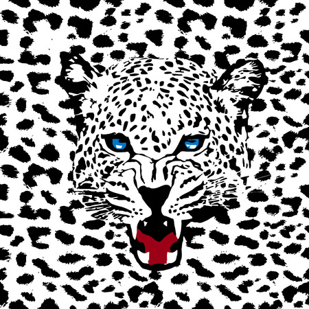leopard vector pattern Illustration