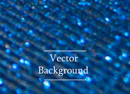 Blue vector background with sparkles and bokeh. Holidays shining background Vector