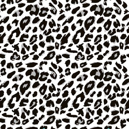 fondo blanco y negro: Patr�n de piel de leopardo. La versi�n del vector. Vectores