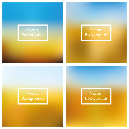 Vector background. Abstract Creative concept vector multicolored blurred background set. 4 vector blurred backgrounds. 向量圖像