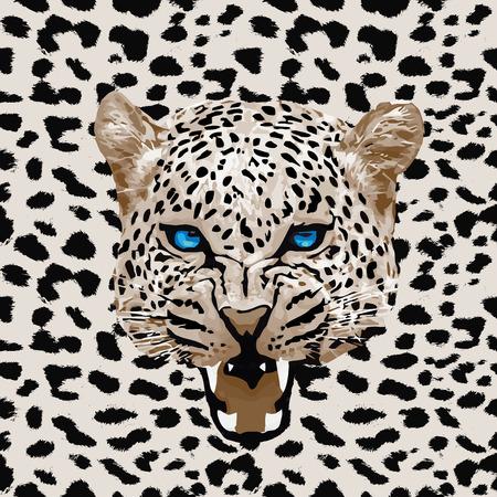 leopard print: leopard print pattern. Abstract leopard pattern vector