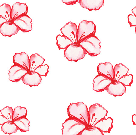 patern: Patern seamless wallpaper with flowers roses, watercolor vector