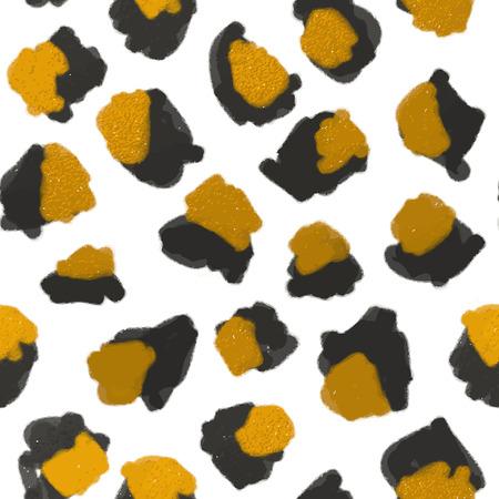 leopard print: Leopard print pattern