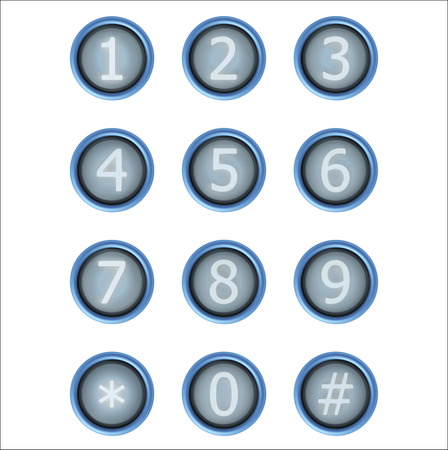 secondary colors: set of buttons with number. Vector design elements