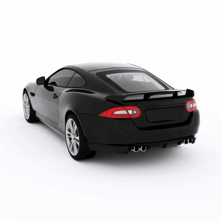 Très rapide voiture sport noir. Vector illustration d'une voiture de sport noire. Banque d'images - 39542989