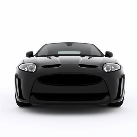Deporte muy rápido coche negro. Ilustración vectorial de un coche deportivo negro. Foto de archivo - 39542991