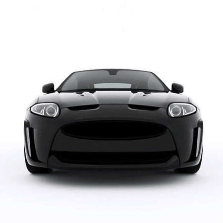 Very fast sport black car. Vector illustration of a black sports car. Vector