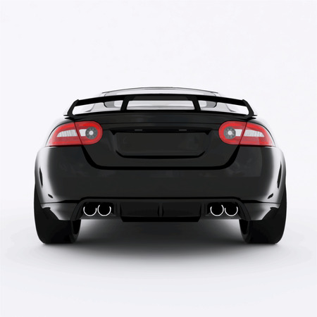 Very fast sport black car. Vector illustration of a black sports car.