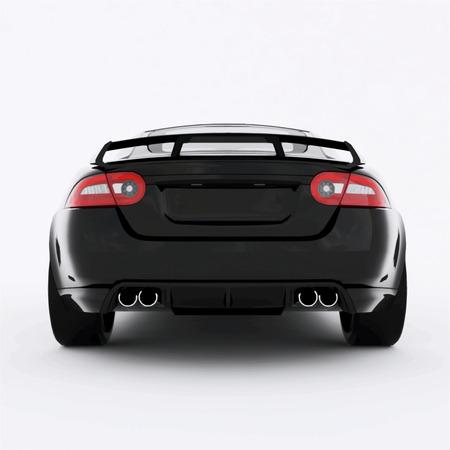 Very fast sport black car. Vector illustration of a black sports car.