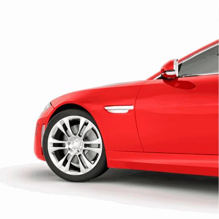 非常に高速スポーツ青い車。赤いスポーツカーのベクター イラストです。