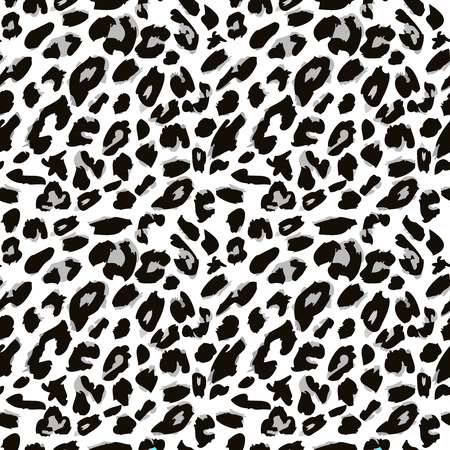 Leopard skin pattern. Seamless animal fur pattern