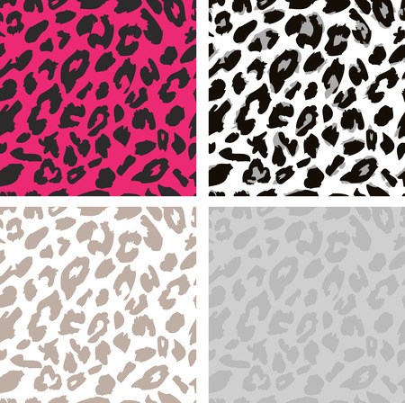leopard background: Seamless leopard print pattern. Leopard fur vector