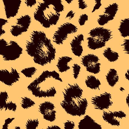 豹柄プリント。シームレスなベクトルの動物背景を繰り返し
