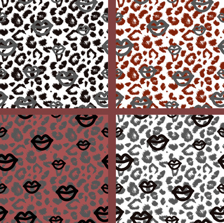 tiger print: Set leopard print pattern. Set tiger print pattern. Set jaguar print textures