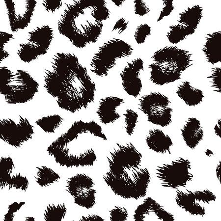 豹柄プリント。動物のシームレスなベクトルの背景の繰り返し。  イラスト・ベクター素材