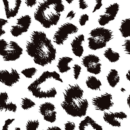 Leopard print pattern. Repeating seamless vector animal background.