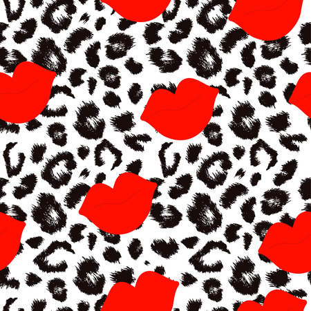 Leopard print pattern. Repeating seamless vector animal background. Stock fotó - 41966462