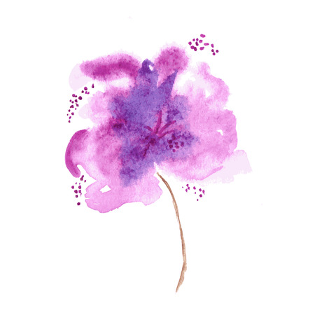 Vector floral background. Watercolor floral illustration. Lilac flower decorative element