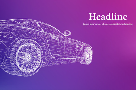concept car: Abstract Creative concept background of 3d car model