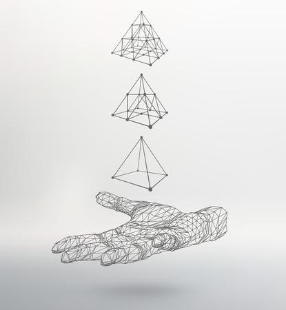 triangle pyramid on the arm