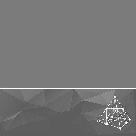 booklet design: Abstract geometrical background. The template design booklet, brochure, banner, document. Vector