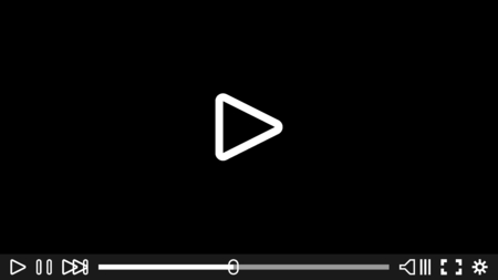 Video player for web and mobile apps. Vector illustration. Media Player Design.