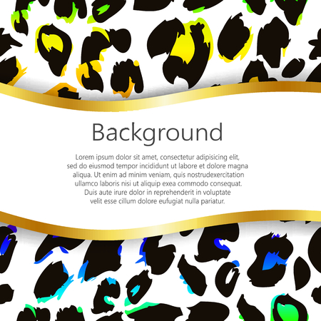 poster print: Abstract background with leopard skin design. Vector, EPS10