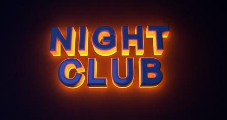 illuminated: Neon sign illuminated night club. Orange light