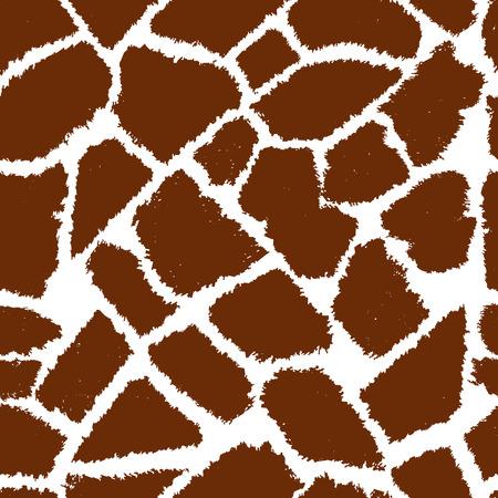 원활한 기린 모피 벡터 패턴입니다. 일러스트