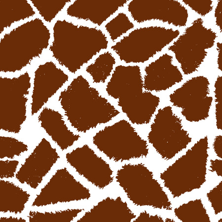 Naadloze giraffe bont vector patroon.