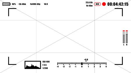 Kamerasucher rec Hintergrund. Kamera Mattscheibe Standard-Bild - 46380156