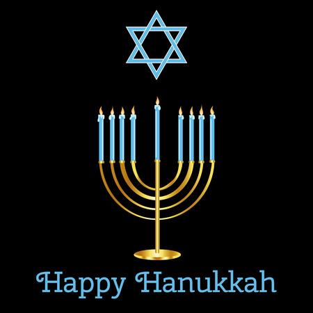 happy hanukkah: Happy Hanukkah card design.