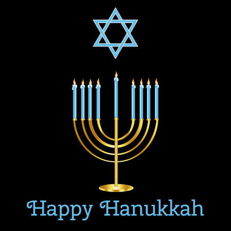 Happy Hanukkah card design.