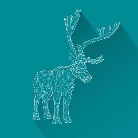 buck: Vector illustration big tail buck. Illustration