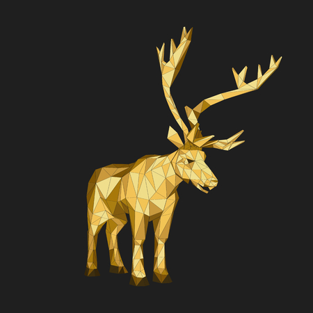 buck: Vector illustration big tail buck.