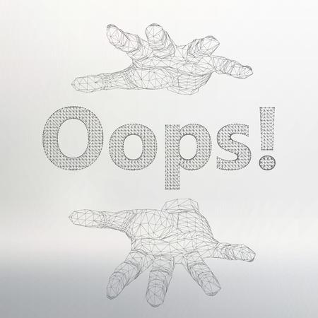 disconnection: Vector illustration the inscription Illustration