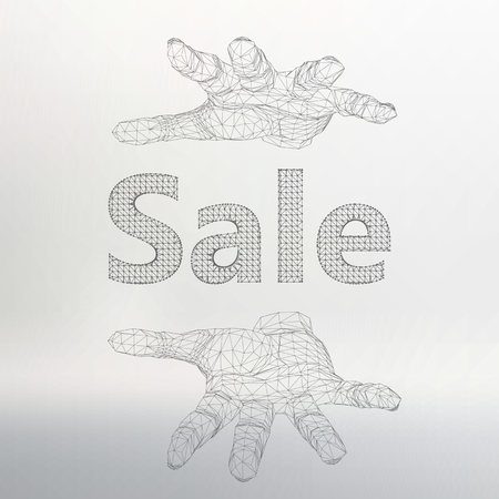 locution: Vector illustration of sale on the arm. Illustration