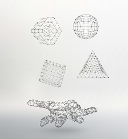mesh: Mesh polygonal background.