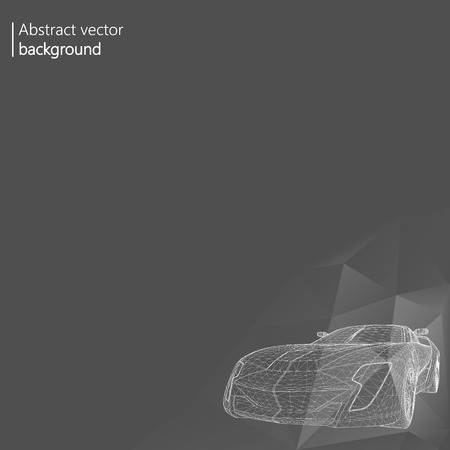 Abstract Creative concept background of 3d car model.