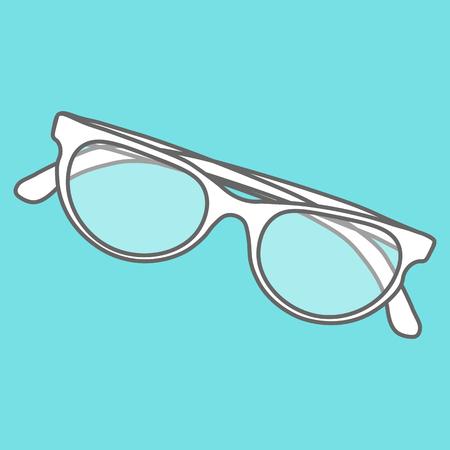 eyewear fashion: Line icons flat design elements. Modern vector pictogram of sunglasses