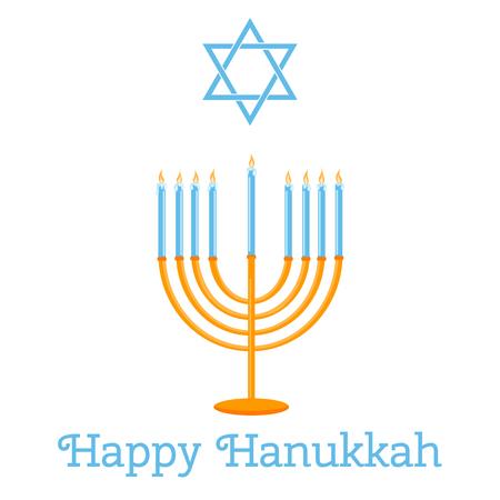 jewish houses: Jewish Holiday. Happy Hanukkah card design. Vector illustration.