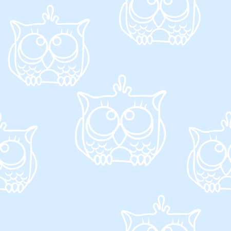 funny baby: Funny Seamless pattern with owls. Baby owls vector pattern. Illustration