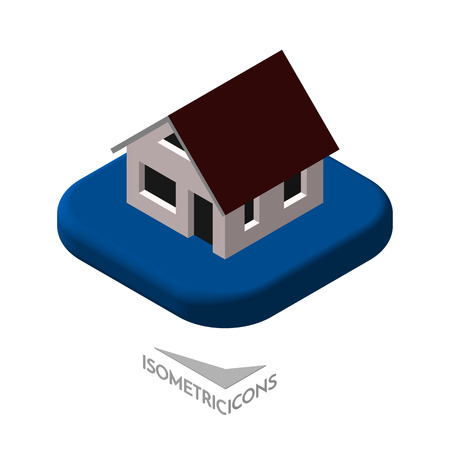 low floor: Isometric 3D icon. Pictograms House. Vector illustration eps 10. Illustration